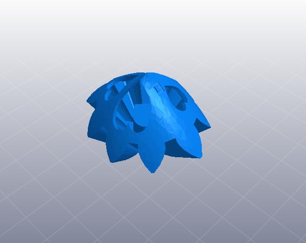 齿轮心 3D打印模型渲染图