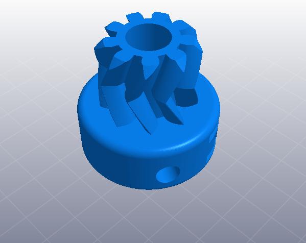 大齿轮挤出机 3D打印模型渲染图