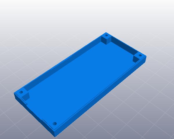 LCD人机模块壳 3D打印模型渲染图