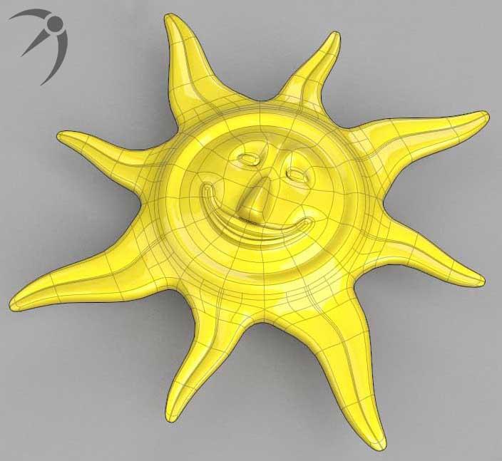 珠宝(太阳神) 3D打印模型渲染图