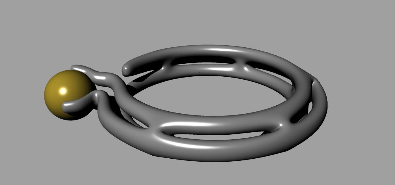异形珠宝 3D打印模型渲染图