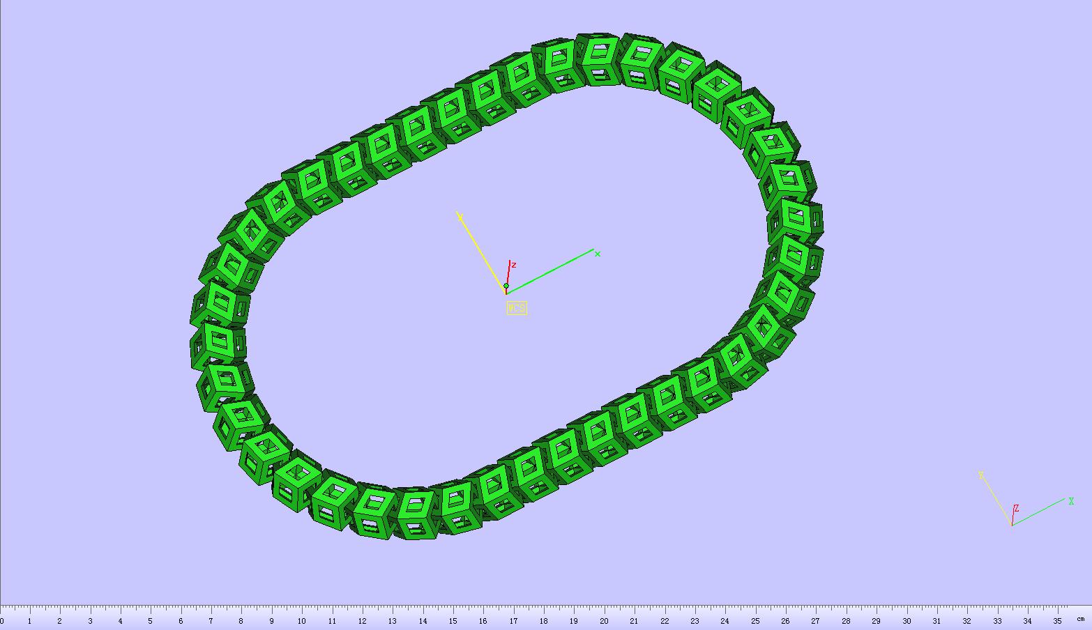 立体镂空项链 3D打印模型渲染图