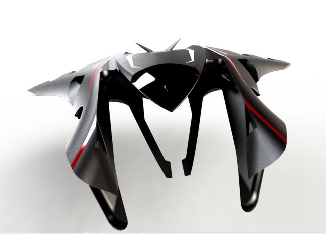 UFO 3D打印模型渲染图