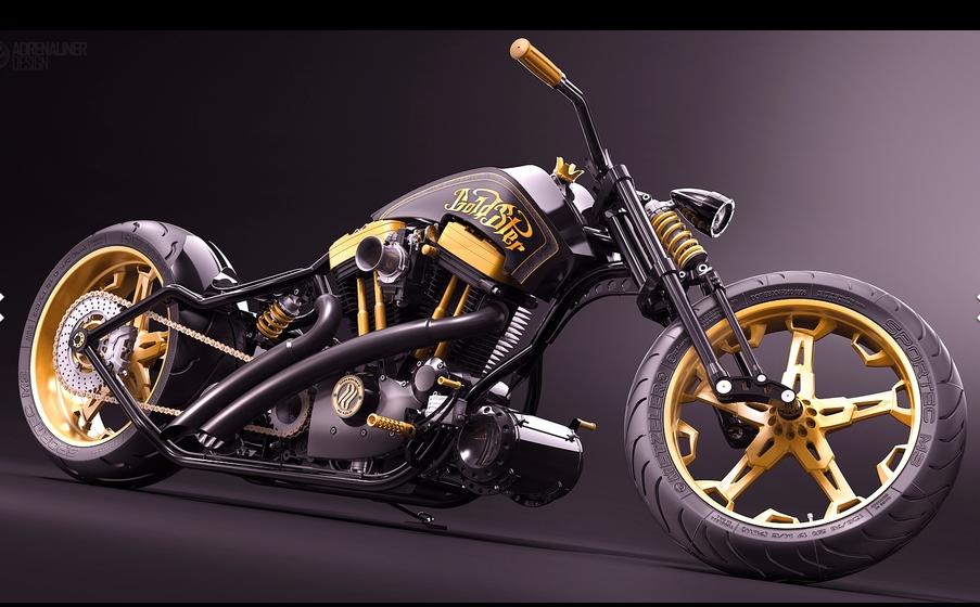 超酷摩托车 3D打印模型渲染图