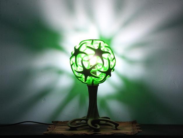 绿色台灯 3D打印图片