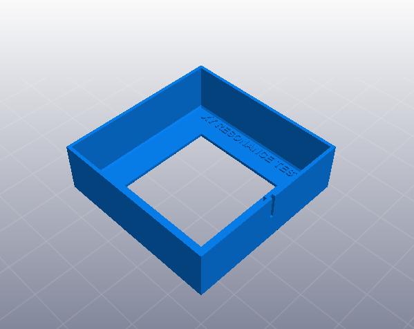 3D打印机性能测试 XY轴机械谐振测试