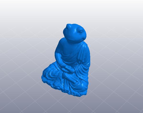 坐姿青蛙佛象 3D打印模型渲染图