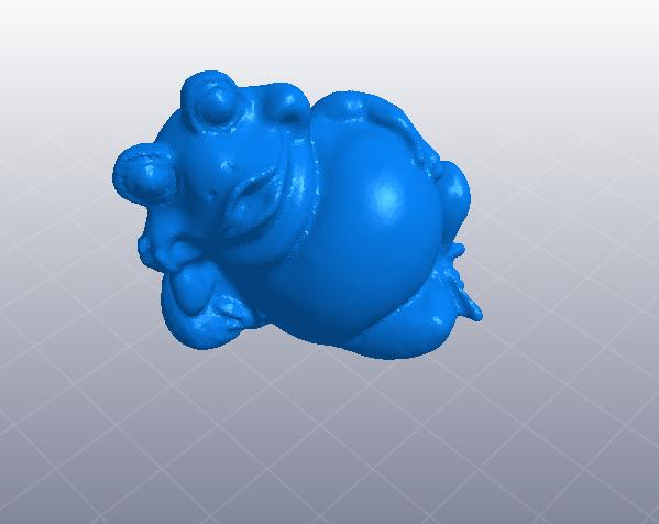 睡觉的胖青蛙 3D打印模型渲染图