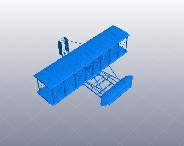 莱特兄弟的第一架飞机