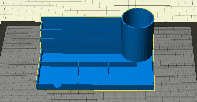 桌面组织者  3D打印模型渲染图