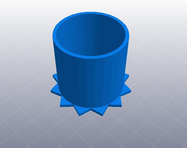 牙签筒 3D打印模型渲染图