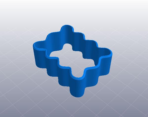 饼干模具 3D打印模型渲染图