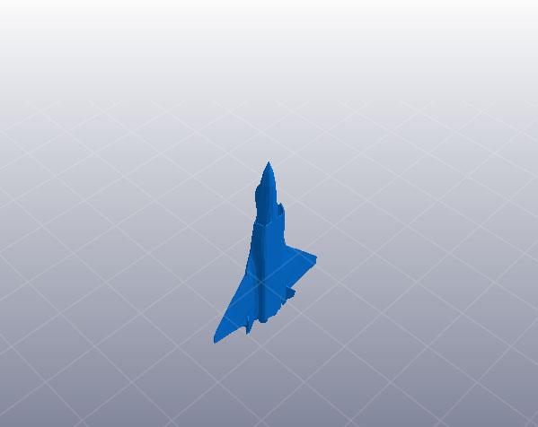 解放军歼20 3D打印模型渲染图