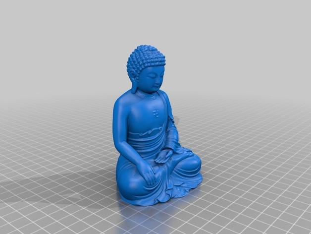如来佛  3D打印模型渲染图