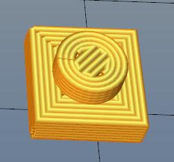 简单的乐高1x1x1小方块 3D打印模型渲染图