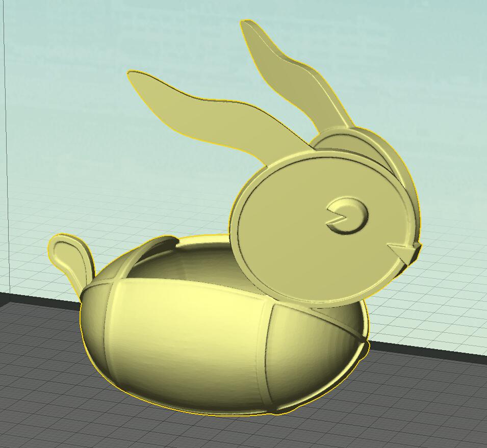 兔子灯 3D打印模型渲染图