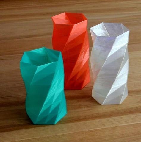 方形花瓶 3D打印模型渲染图