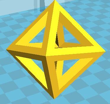 八面体 3D打印模型渲染图