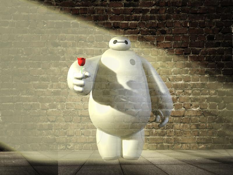 大白 baymax 3D打印模型渲染图