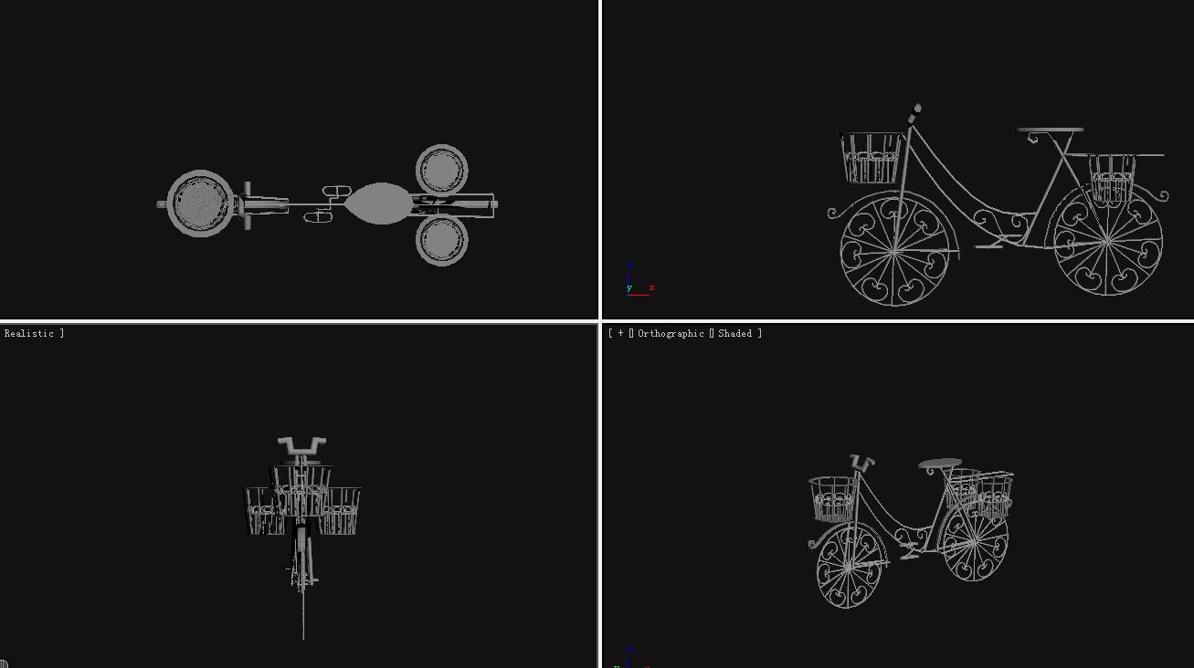 自行车 3D打印模型渲染图