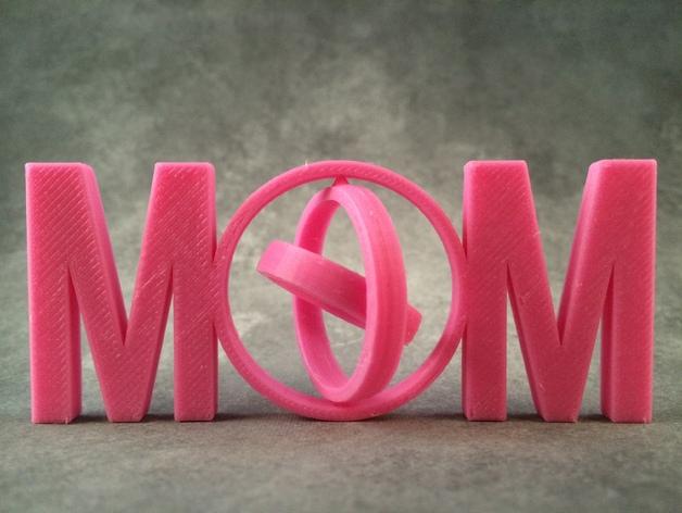 英文MOM 万向节 3D打印模型渲染图