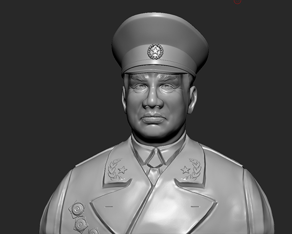 十大元帅 之 朱德 半身雕塑 3D打印模型渲染图