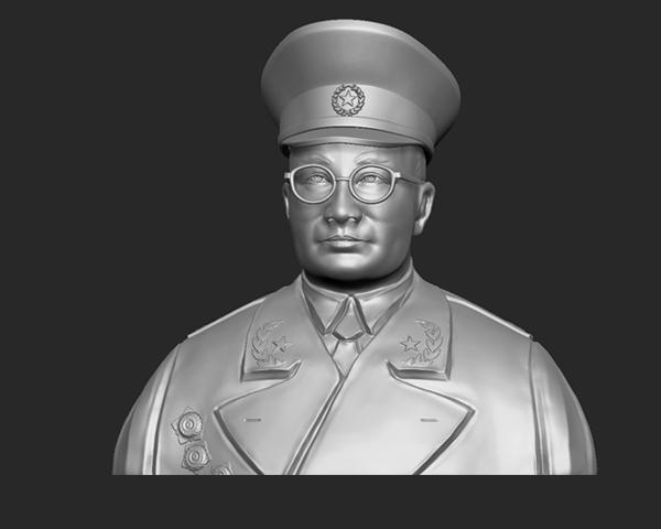 十大元帅 之 刘伯承 半身雕塑