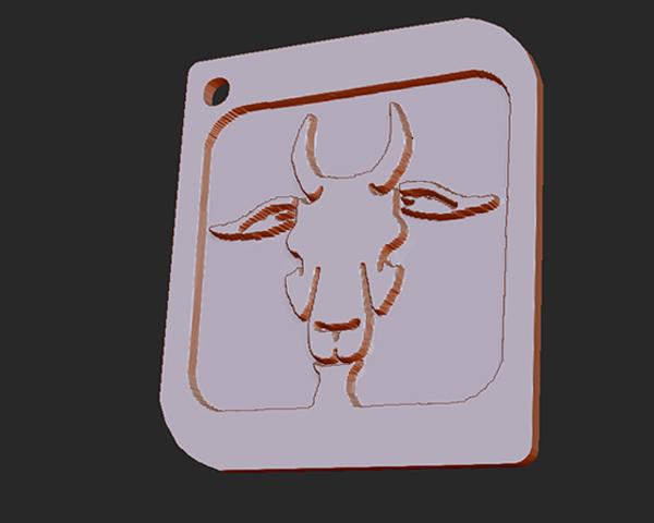 十二星座 系列 之 摩羯座 3D打印模型渲染图