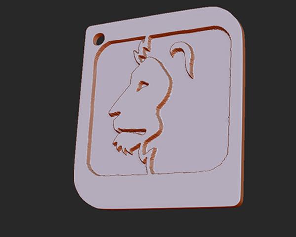 十二星座 系列 之 狮子座 3D打印模型渲染图