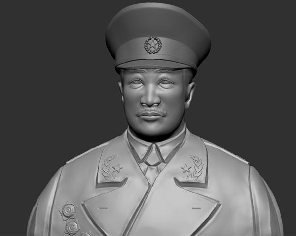 十大元帅 之 贺龙 半身雕塑