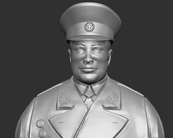 十大元帅 之 陈毅 半身雕塑