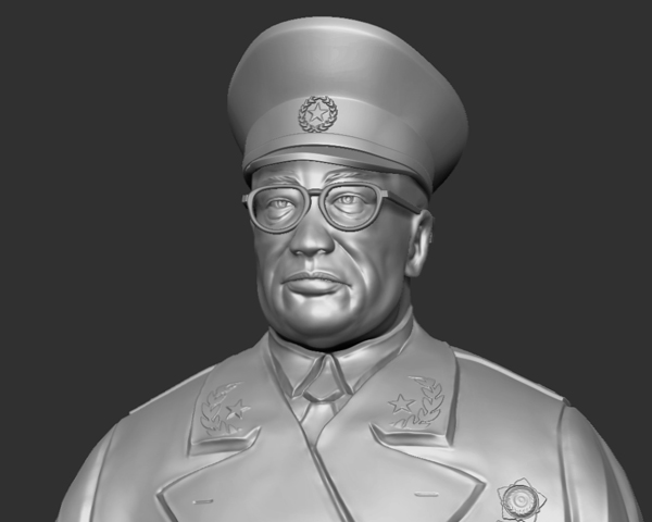 十大元帅 之 罗荣桓 半身雕塑 3D打印模型渲染图