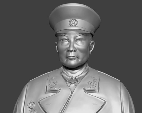 十大元帅 之 叶剑英 半身雕塑 3D打印模型渲染图