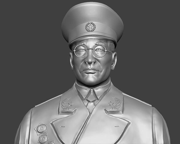 十大元帅 之 徐向前 半身雕塑 3D打印模型渲染图