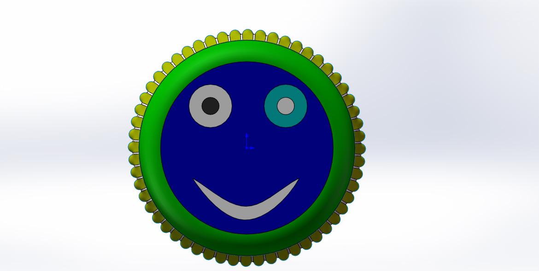 皇冠盖 3D打印模型渲染图
