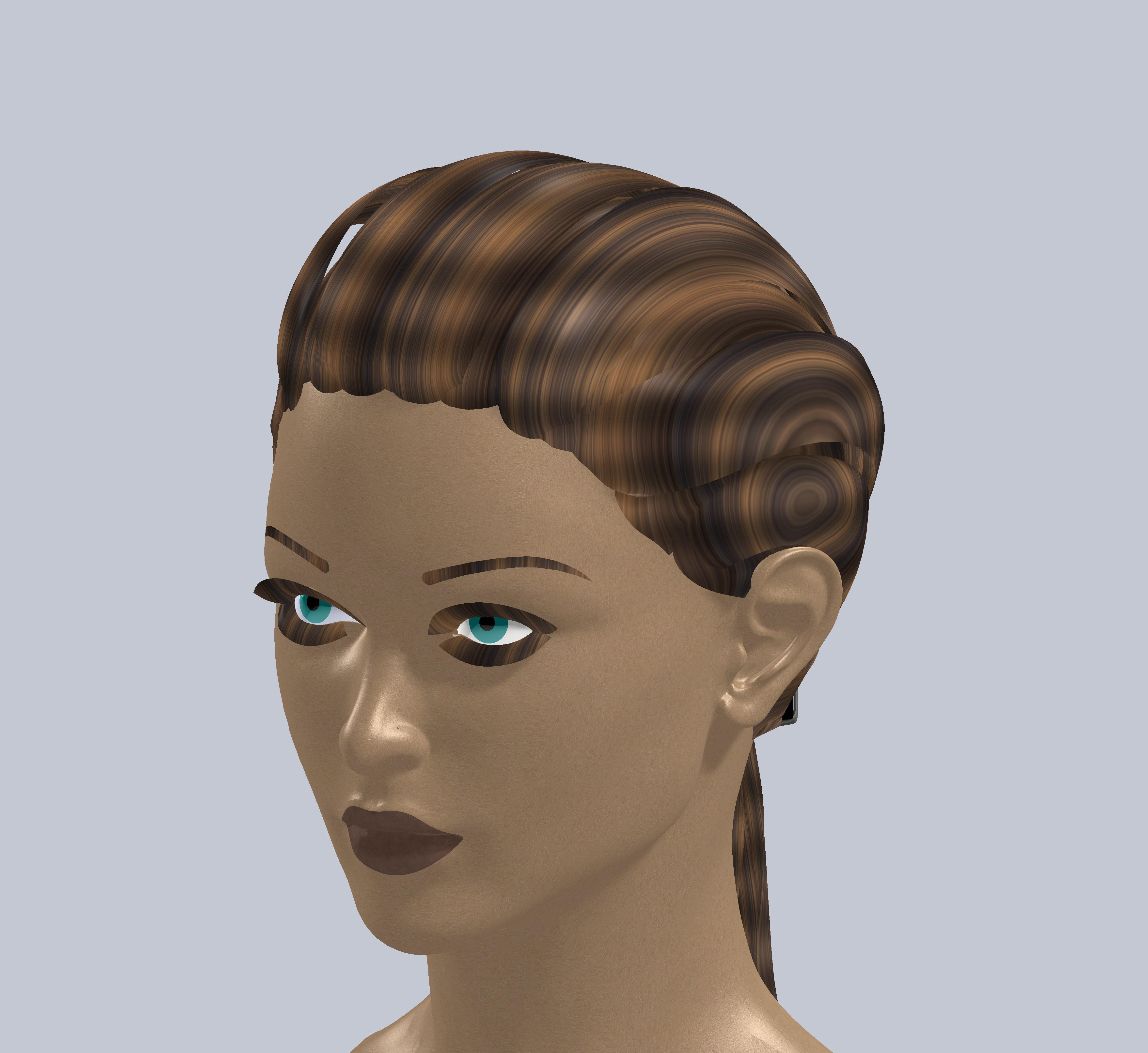 美女头部 3D打印模型渲染图