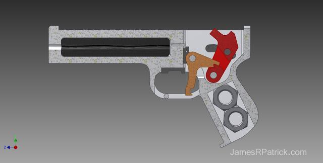 橡筋枪 3D打印模型渲染图