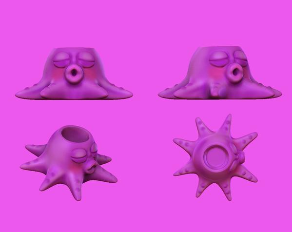 章鱼亲-笔筒