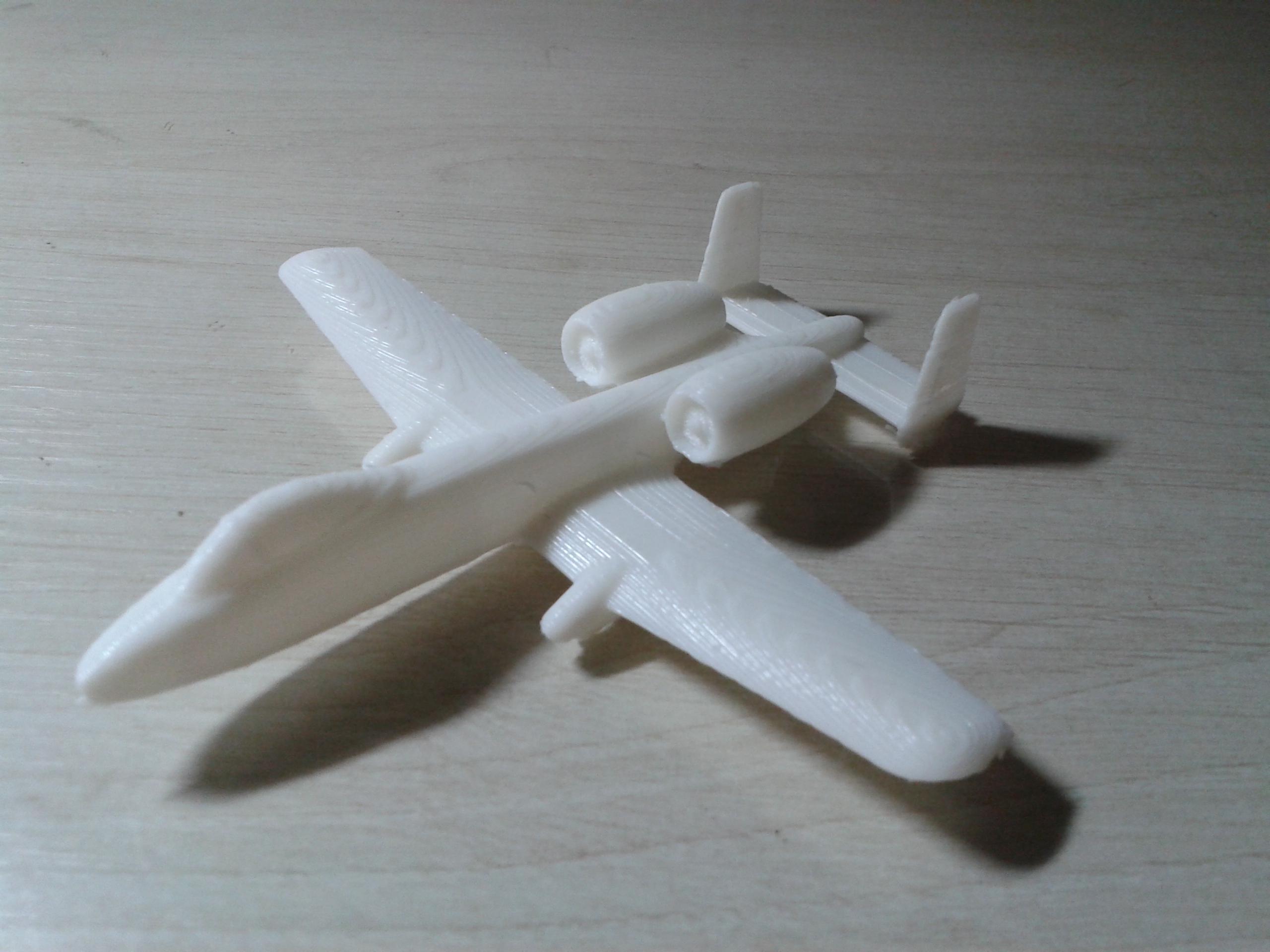 飞机 3D打印模型渲染图
