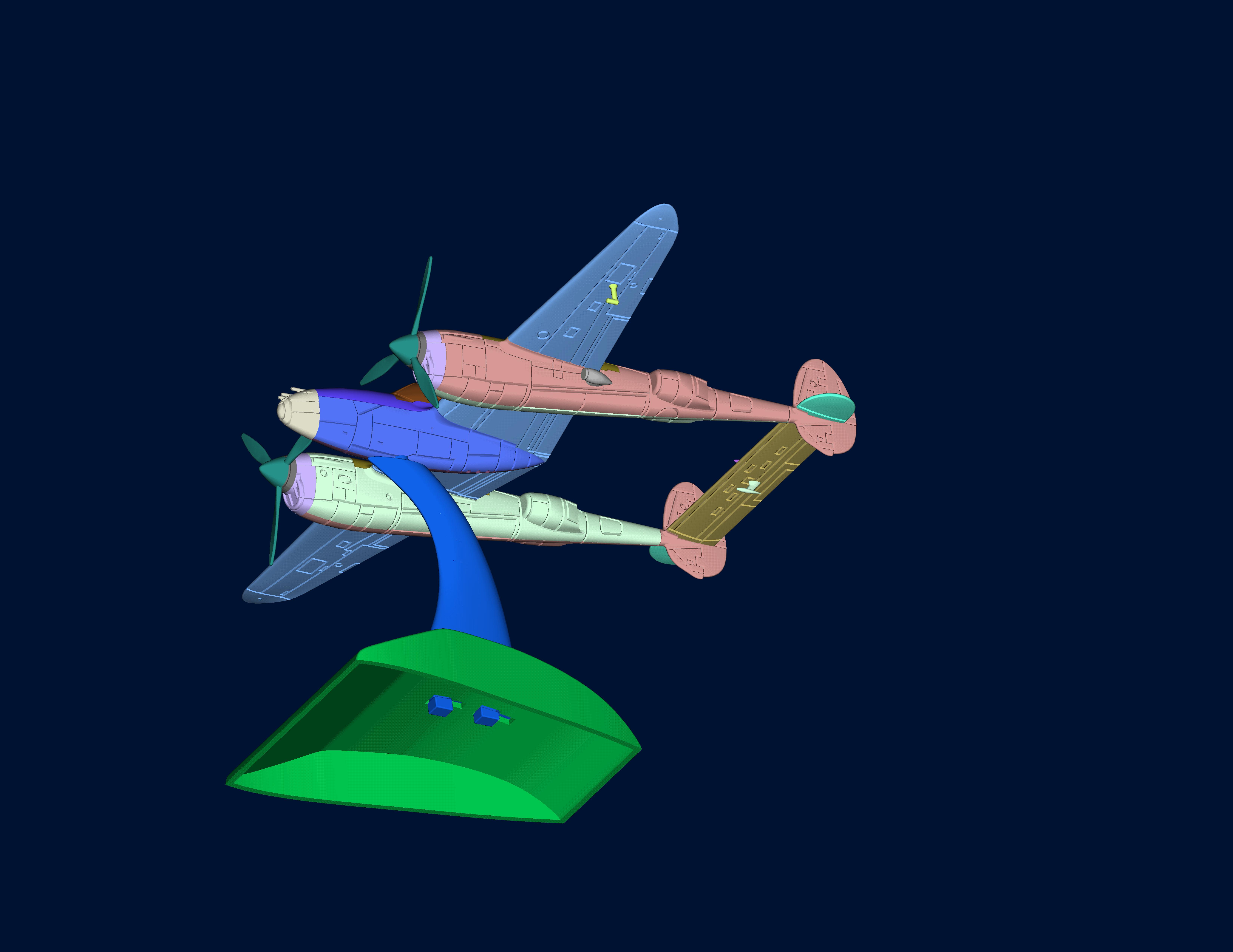 战机 3D打印模型渲染图