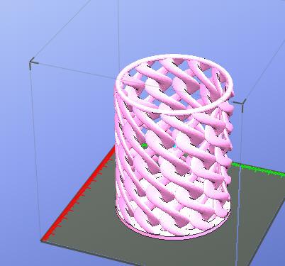 立体笔筒 3D打印模型渲染图