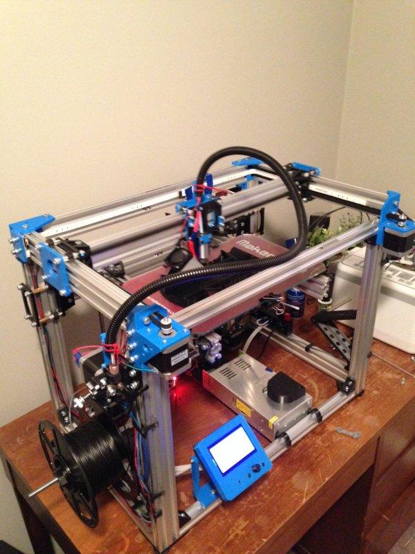 驱动方式(h-bot) 3D打印模型渲染图
