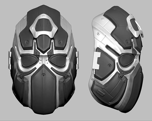 科幻机械面具
