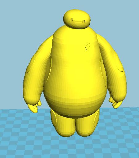大白2件套 3D打印模型渲染图