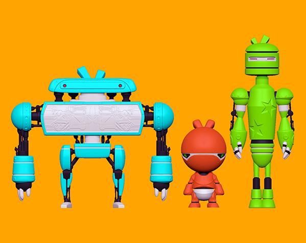 卡通机器人B