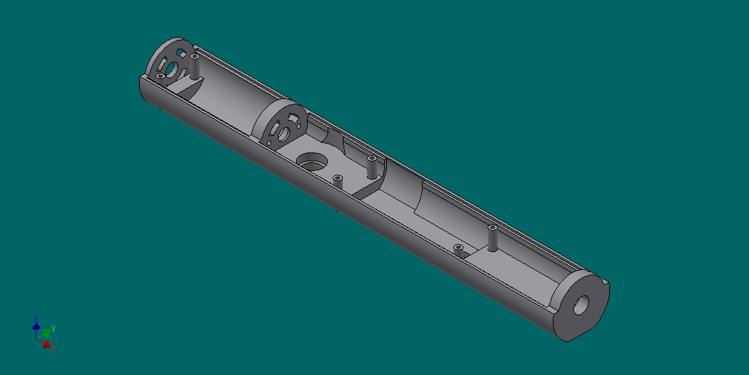 下盖板 3D打印模型渲染图