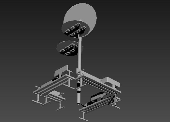 路灯和座椅