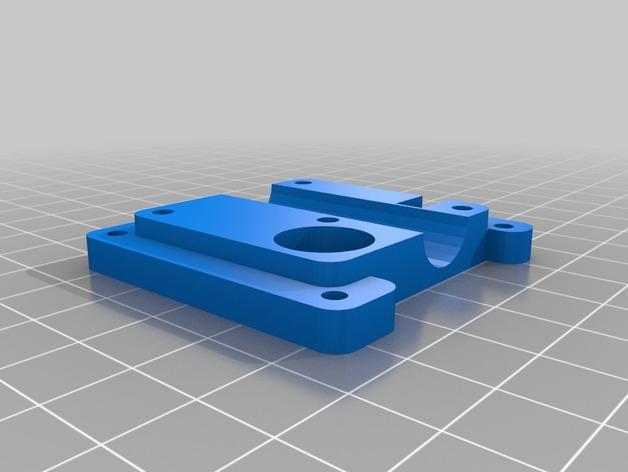 鲍登 Ultimaker2 打印头 3D打印模型渲染图