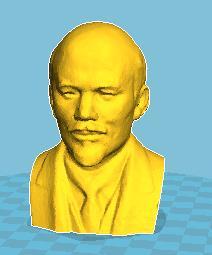 列宁 3D打印模型渲染图
