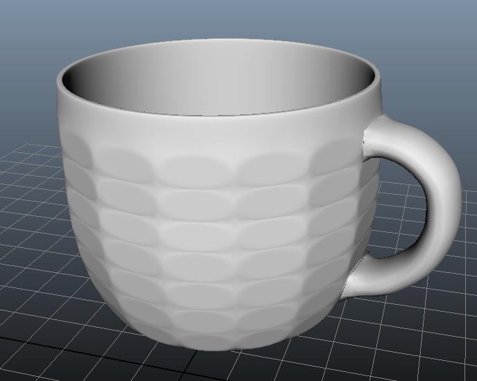 杯子盘子 3D打印模型渲染图